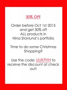30 Percent Sale On ALL Products